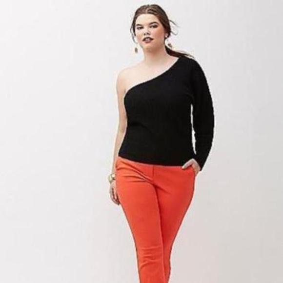 9513efbbda0 Lane Bryant Sweaters - Lane Bryant One Shoulder Black Sweater Plus 22 24